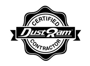 The trusted seal of Certified DustRam® Contractors is the best way to know if you are getting a genuine contractor who is factory-trained in the use of the patented DustRam® System equipment.